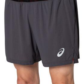 asics Fujitrail Shorts Men, gris/naranja
